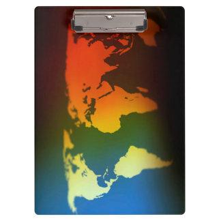 日夜世界地図のクリップボード クリップボード