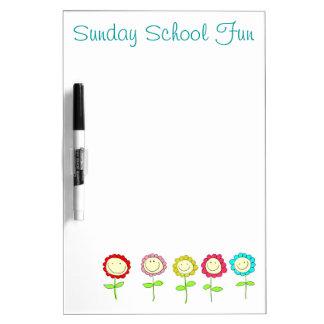日曜学校のホワイトボード ホワイトボード
