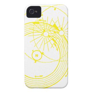日曜日および月軌道Zetetic天文学 iPhone 4 カバー