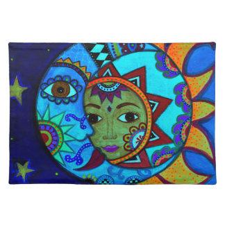 日曜日および月PRISARTSの絵画 ランチョンマット