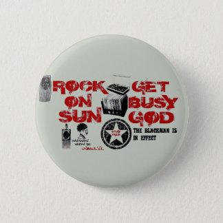 日曜日に揺すって下さい、忙しい神ボタンを得て下さい 缶バッジ