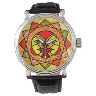 日曜日のカラフルな天の腕時計 腕時計