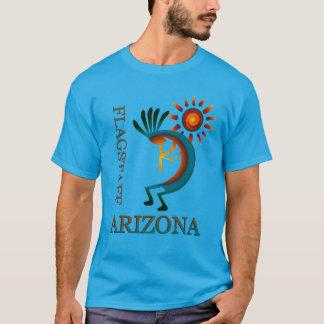 日曜日のティール(緑がかった色)が付いているFlagstaffアリゾナココペリ Tシャツ