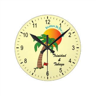 日曜日のトリニダードトバゴの島 ラウンド壁時計
