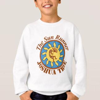 日曜日のランナーのロゴ、ジョシュアツリー スウェットシャツ