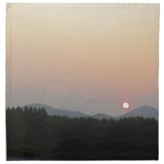 日曜日の上昇の太陽セット ナプキンクロス