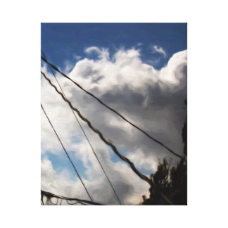 日曜日の午後の積雲の勉強 キャンバスプリント