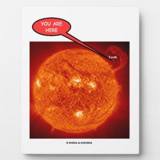 日曜日の地球天文学のユーモアここにいます フォトプラーク