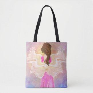 日曜日の天使の芸術に直面して下さい トートバッグ