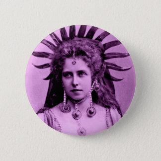 日曜日の女王としてルーマニアのQueenMarie -紫色の… 缶バッジ