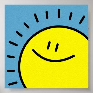 日曜日の幸せなプリント ポスター
