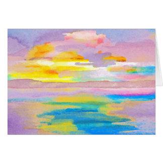 日曜日の戯曲2海の海の恋人のカラフルの芸術 グリーティングカード