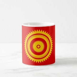 日曜日の星の黄色モロッコの錆 コーヒーマグカップ