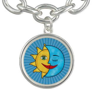 日曜日の月の太陽のな光線の天のテーマ ブレスレット
