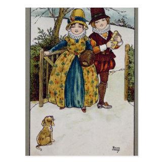日曜日の朝、ビクトリアンなカード ポストカード
