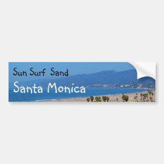 日曜日の波の砂のサンタモニカのバンパーステッカー バンパーステッカー