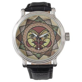 日曜日の煙のある調子を与えられた天の腕時計 腕時計