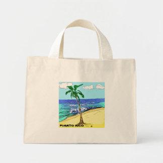日曜日の砂、プエルトリコの波。 ミニトートバッグ