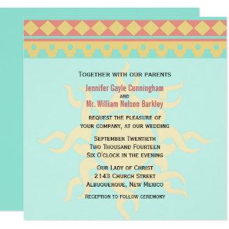 日曜日の種族の南西結婚式招待状 カード