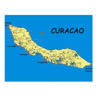 日曜日の郵便はがきのクラサオ島の島 ポストカード
