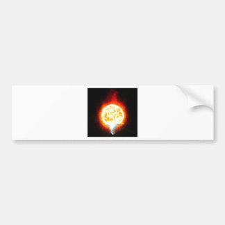 日曜日の電球 バンパーステッカー