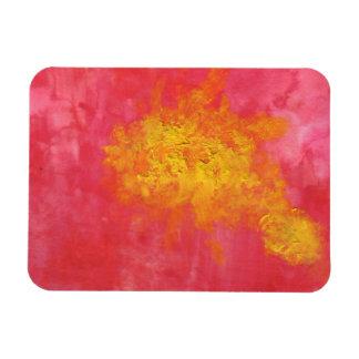 日曜日の黄色および赤く超現実的なしぶきの抽象芸術 マグネット