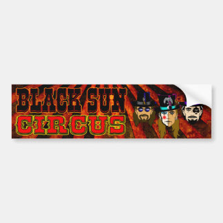日曜日の黒いサーカスのバンパーステッカー バンパーステッカー