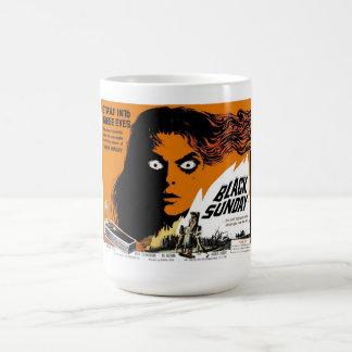 日曜日の黒いマグ コーヒーマグカップ