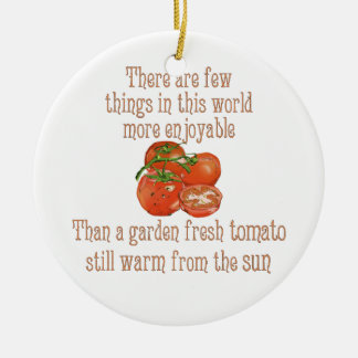 日曜日はトマトを暖めました セラミックオーナメント