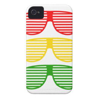 日曜日はレゲエのiPhoneの箱を影で覆います Case-Mate iPhone 4 ケース
