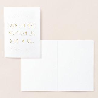 日曜日は私達で私達でない|の空白のなカード照ります 箔カード