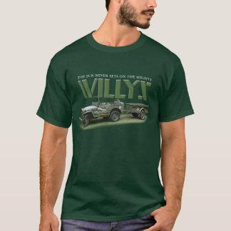 日曜日はWillysの男性暗い色のワイシャツで決して置きません Tシャツ