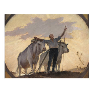 日曜日への地球の賛美歌、1892年 ポストカード