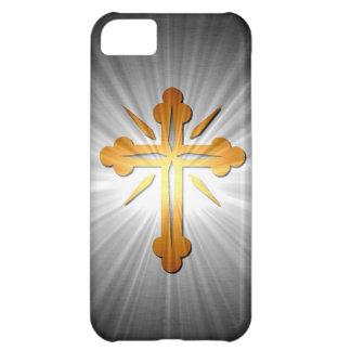 日曜日光線の金ゴールドの十字 iPhone5Cケース