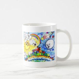 日曜日及び月 コーヒーマグカップ