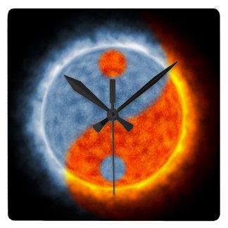 日曜日及び月 スクエア壁時計