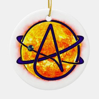 日曜日燃え立つ無神論者の記号 セラミックオーナメント