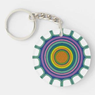 日曜日種族のBrustの円(独身の味方される) Keychain キーホルダー