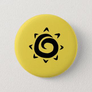 日曜日黄色いボタン 缶バッジ