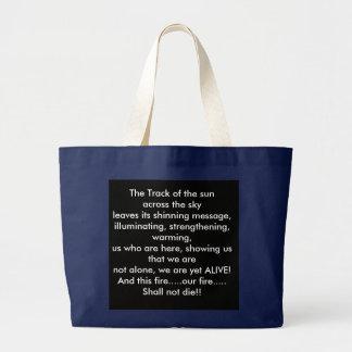 """""""日曜日""""は(チョクトー語の""""Atoni """")詩を追跡します ラージトートバッグ"""