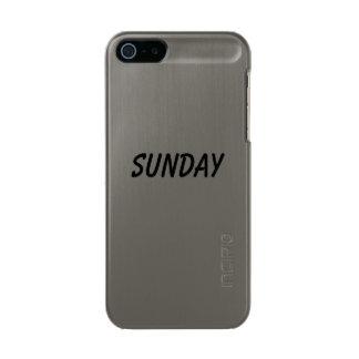 日曜日 メタリックiPhone SE/5/5sケース