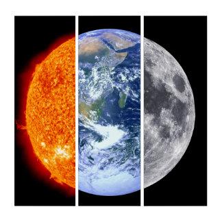 日曜日、地球、及び月 トリプティカ