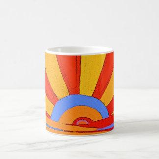 日曜日: 日の出。 マグのための民芸のデザイン コーヒーマグカップ