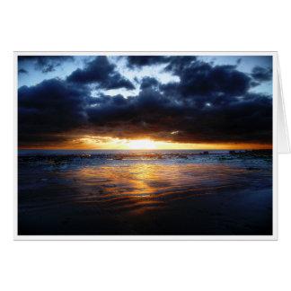日曜日、海および砂 カード