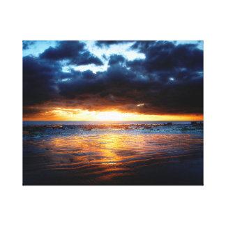 日曜日、海及び砂 キャンバスプリント