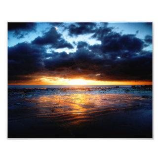 日曜日、海及び砂 フォトプリント