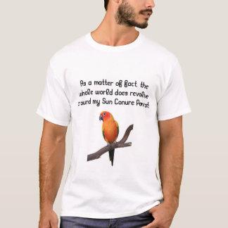 日曜日ConureのオウムのTシャツ Tシャツ