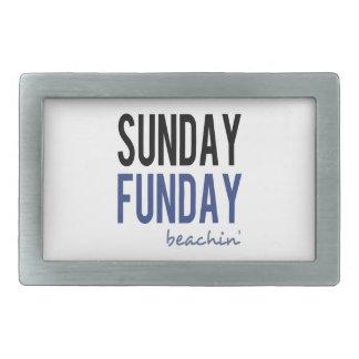 日曜日Funday Beachin 長方形ベルトバックル