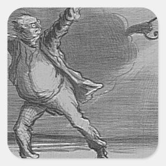 日曜日Honore Daumierを離れて行くことにするBabinet スクエアシール