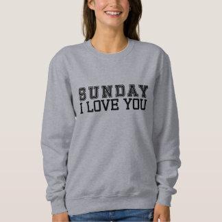 日曜日I愛ワイシャツ スウェットシャツ